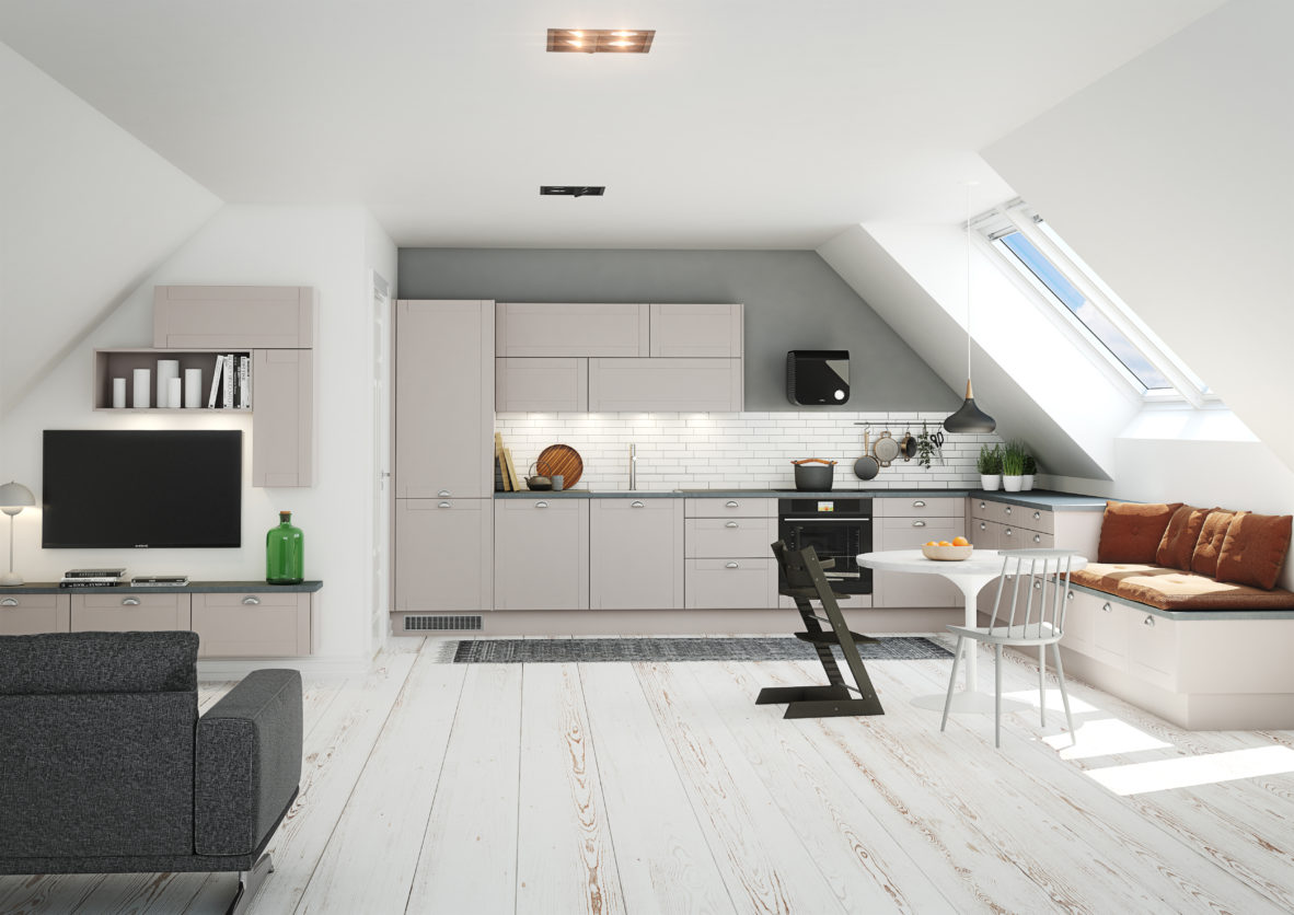 Køkken_Shaker_Stone_grey